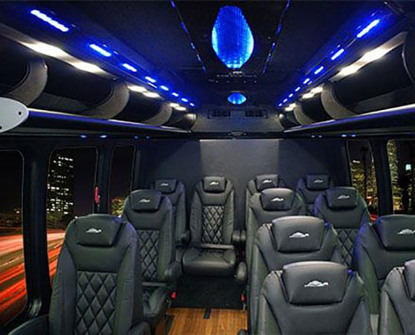 THINKLimo Premium Chevrolet Van Interior