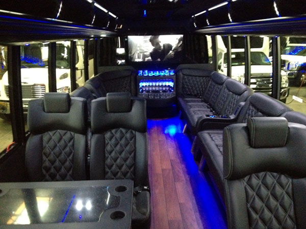 THINKLimo Premium Limo Bus Interior